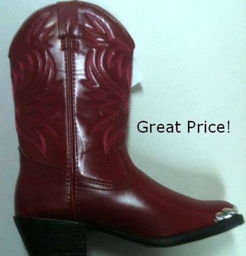 Picture of Childs Cowboy Boots 1033: Mesquite Red