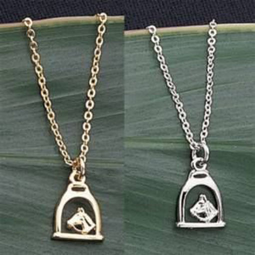 Picture of 6249 ~Exselle Horsehead in Stirrup Pendant