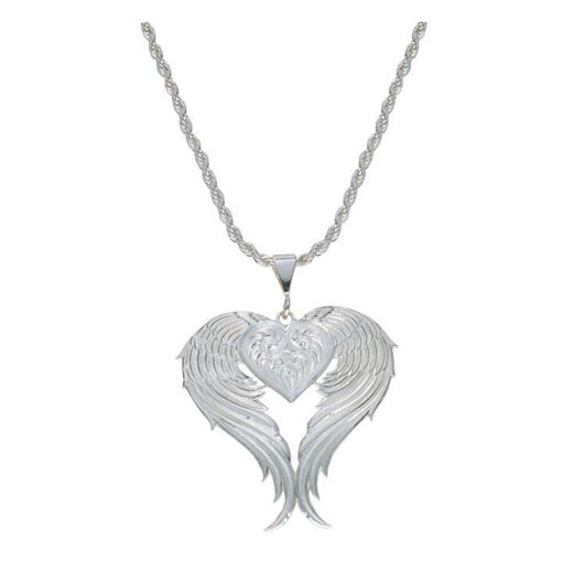 Picture of NC1129 Angel Heart Silver Necklace