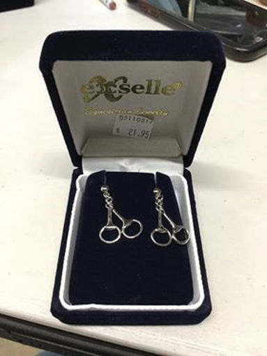 Picture of Exselle Equestrain Jewelry Snaffle Bit Earings