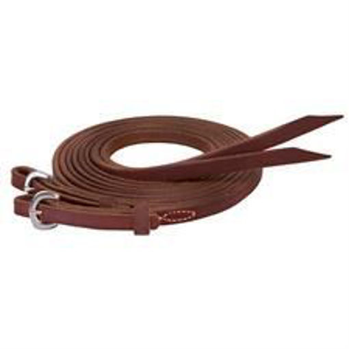 Picture of 50-1781 Stacy Westfall Oiled Heavy Harness Split Reins, 8'