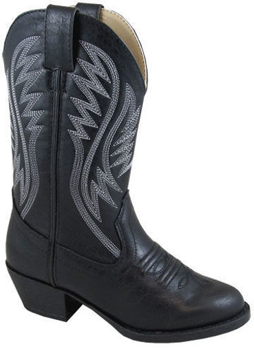 Picture of 1832 Kid's Black Mesquite II Cowboy Boot