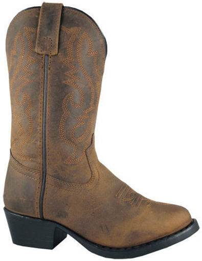 Picture of 3034 Denver Kid's Distressed Oiled Leather Cowboy Boots